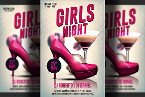Girls-Ladies Night Party Flyer