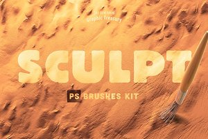 Sculpt Brushes Kit for Photoshop