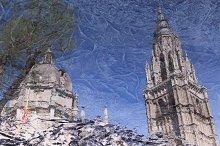 Reflecting the cathedral toledo Spai