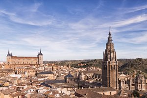 Panoramic of Toledo in Spain