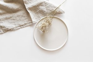 Styled Table Dried Wild Flower Photo