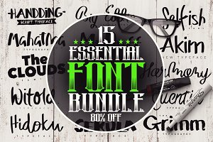 15 Essential Font Bundle