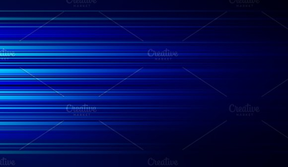 Blue lights for futuristic internet and business concept, movement motion blurry technology background. 3d illustration.