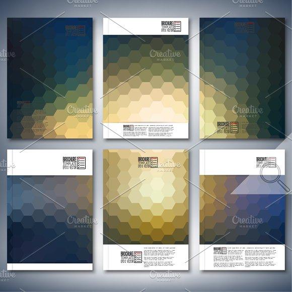 Brochure with hexagonal patterns