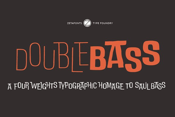 Fonts: Zetafonts - DoubleBass - 70% OFF!