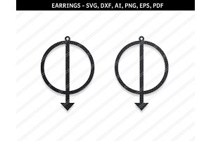 Abstract earrings svg,eps,png,pdf