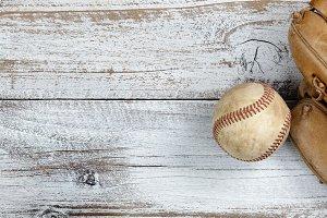 Worn out baseball stuff