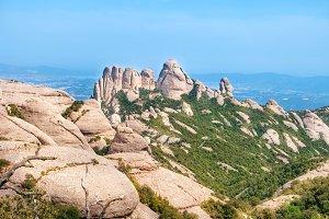 Landscape of mountain Montserrat