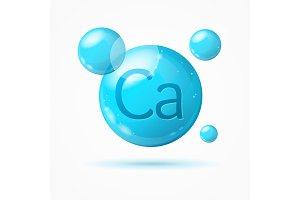 Calcium Background Card