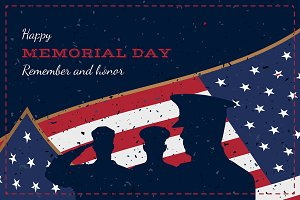 Memorial Day. Vintage Greeting Card