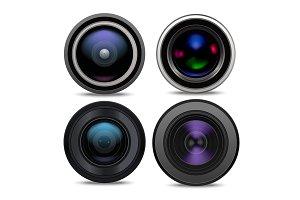 Realistic 3d Camera Lens Set.