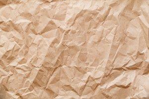 Crumpled kraft paper background