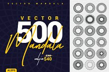 500 Mandala Vector Collection by  in Web Elements
