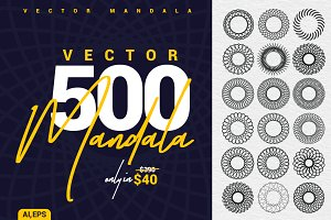 500 Mandala Vector Collection