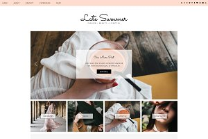 "Wordpress Theme ""Late Summer"""