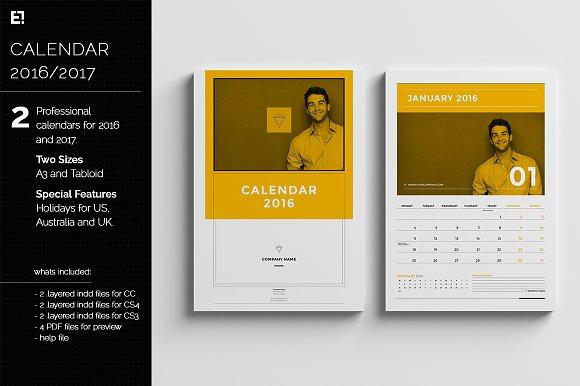 calendar templates for 2016 2017 templates creative market