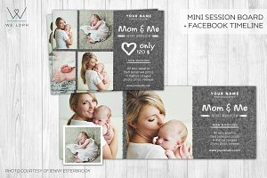 Mom and me mini session template