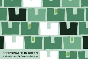 Coordinated in Green | Mini Patterns