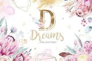Dreams collection. Gold protea