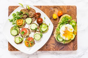 Raw healthy burger with egg