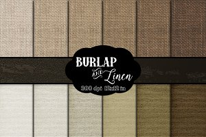 Natural Burlap & Linen Digital Paper