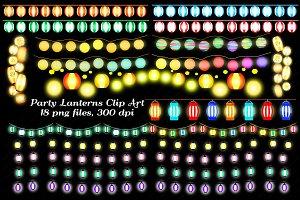 Party Lanterns Clip Art
