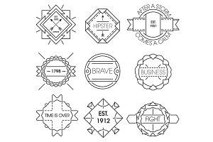 Minimal vintage hipster labels