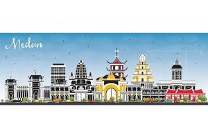 Medan Indonesia City Skyline