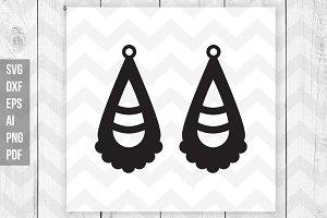 Tear drop earrings vector cut file