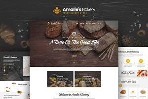 Amalie's Bakery-Onepage PSD Template