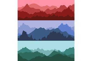 Silhouette Mountains Landscape