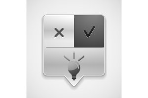 Light bulb, new idea concept web button