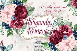 Burgundy Romance design/DP/Vector