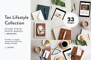 Tan Lifestyle Photo & Mockup Bundle