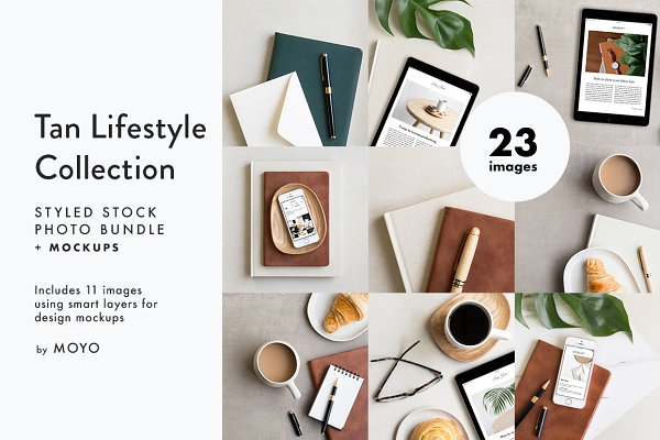 Graphics: Moyo Studio - Tan Lifestyle Photo & Mockup Bundle