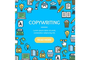 Writer and Copywriting Round Design