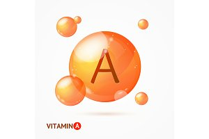 3d Vitamin A Background Card