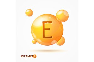 3d Vitamin E Background Card