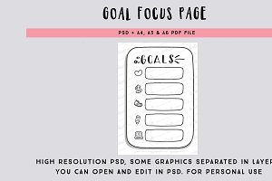 Goal focus page PSD file