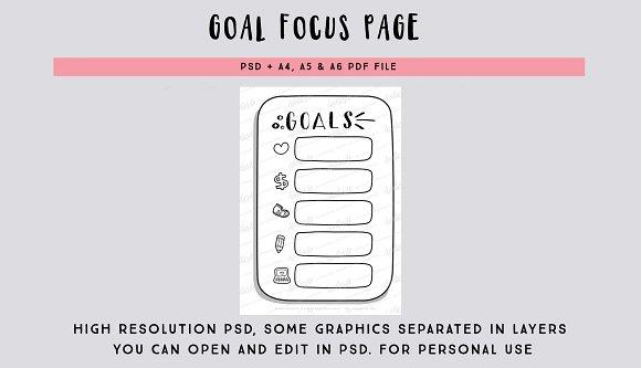 Goal focus page PSD file