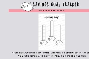 Savings Goal tracking page PSD file