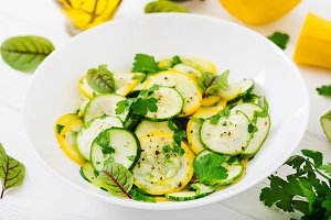 Salad of pickled zucchini