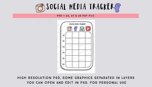 Social Media Tracker PSD file