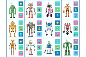 Robot Industry Collection, Vector Illustrations
