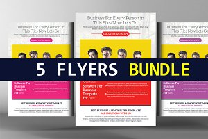 5 Social Media Marketing Flyers
