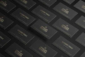 Elegant Gold Business Card