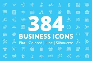 384 Business Icons