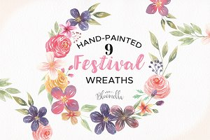 Festival Flower Wreaths Floral Set