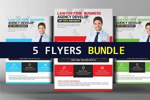 5 Law Firm Templates Bundle