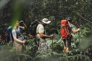 Outdoor Trekking concept